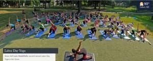 Labor Day Yoga 2015