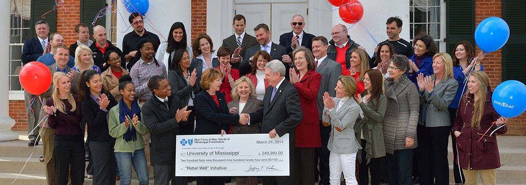 RebelWell program receives $250,000 from Blue Cross & Blue Shield of Mississippi Foundation.